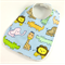 Cute Baby Bib - Zoo Animals Cotton Fabric, Bamboo Toweling, Snap Fastened.