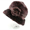 Ladies Hand Knitted Hat with Beaded Floral Decoration, So Soft and Warm.