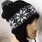Snowflake Earflap Hat Nordic Ski inspired - custom made to order