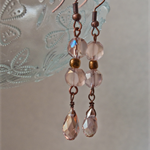 Etched glass vintage drop earrings - simple and sweet!