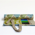 Pencil Roll Little Houses Includes 12 Quality Staedtler Pencils + One HB Pencil