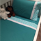 Handmade green with whale trim 3 piece cot or toddler bed sheet set. Cotton