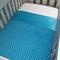 Handmade blue/aqua minky cot size baby blanket 100x150cm