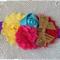 Cluster Flower Headband Rainbow chiffon Newborns to girls