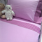 Handmade purple with gingham 3 piece cot or toddler bed sheet set. Cotton