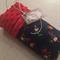 Handmade pirate print minky baby pram size blanket 100x70cm