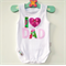 Fathers Day Baby Onesie I 'heart' Dad Baby New Dad Pretty in Pink