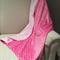 Handmade pink dot minky pram size baby blanket 100x70cm