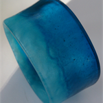 Eco Resin Turquoise blue wide Bangle