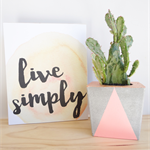 Live Simply Wall Art Shelfie