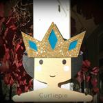 Glitter Felt Crown, Gold and Blue