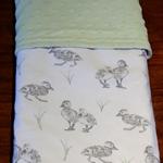 Cosy flannelette / minky baby blanket - Ducklings!