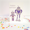 Happy Birthday Robots Card. Free Post.