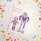 Happy Birthday Robots Card. Free Post.