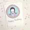 Happy Birthday Girl In Frame Card. Free Post.