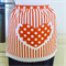 Half Apron Spots & Stripes white/orange - womens lined apron with heart pocket