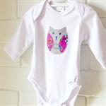 baby owl | applique onesie |  | newborn gift | SALE