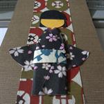 Kimono Girl Bookmark: Washi Ningyo.  Japanese Paper Bookmark