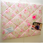 Ribbon/Memo Board 'Lecien - Durham Anew Paisley Pink Roses'