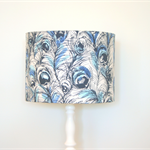 Peacock fabric lampshade, home decor, table floor or ceiling lighting