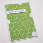 Lime Green Hexagons - Birthday Card