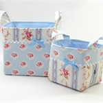 Fabric Basket SET - Tanya Whelan 'Petal in Blue'