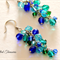 Peacock collection - Czech bead mix earrings