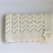Baby Blanket | Hand Knitted CREAM Wool | Pram Stroller Car | Ready to Ship