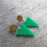 Triangle studs by Little Red Head Jewellery