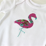 flamingo | applique onesie |  newborn baby gift