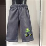 Winter Boys Ash Grey soft corduroy pants w/ John Deere applique. Sizes 00 to 7