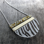Zebra print necklace by Little Red Head Jewellery