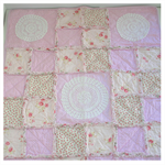 Vintage Doilies and Roses Cot Quilt