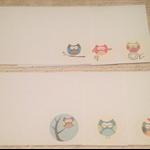Notecards set of six - Owls