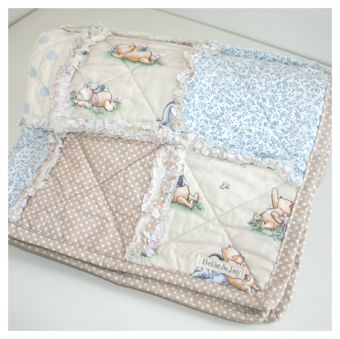 Winnie the Pooh Baby Bassinet/Pram Quilt | Belle and Jay | madeit ... : winnie the pooh baby quilt - Adamdwight.com