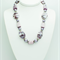 Lavender Necklace with Matching Earrings