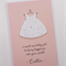 a sweet new baby girl - personalised handmade card