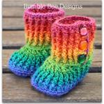 Crochet Baby Booties Rainbow 0-6 months, crochet booties