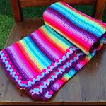 Crochet Baby Blanket Rainbow