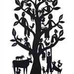 Family Tree #1 woodcut
