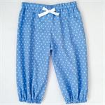 Play Pants - Boys Harems -Light Blue Stars - Retro - Blue - White