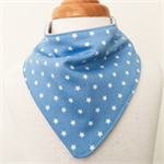 Bandanna Bib - Blue Stars - Boys - Blue - White - Retro - Dribble Bib