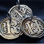 Personalized Initial Pendant Fine Silver Wax Seal - PMC