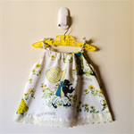 Vintage Holly Hobbie Girls Pinafore Dress