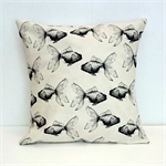 White Goldfish Cushion Cover