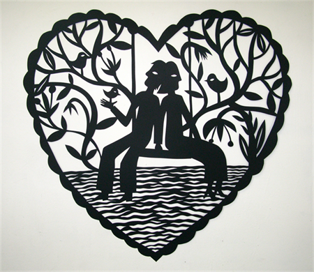"""""""Together"""" woodcut"""