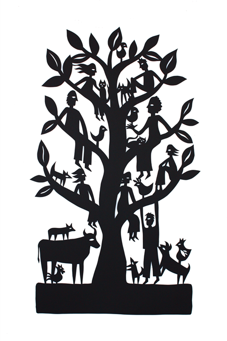 Family Tree #1 woodcut