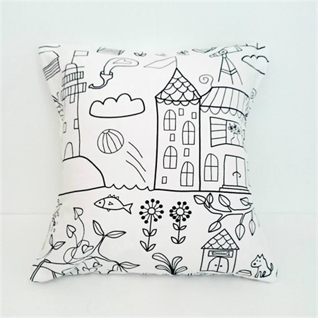 Colour your own Cushion Cover  FREE SHIPPING