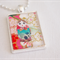 Matryoshka Doll collage pendant necklace