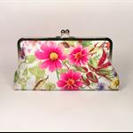 Spring garden large clutch purse